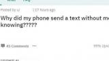 Плутанина більш ніж 100 000 мобільних користувачів отримання недоставленной текстів